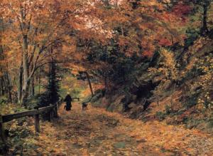 A Woodland Path in Autumn