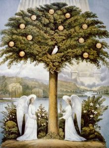 Tree of Life with Angels and Rivers