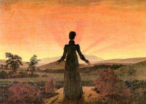 Woman before the Rising Sun by Caspar David Friedrich