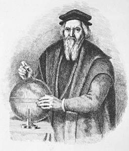 Explorer Sebastian Cabot with Globe