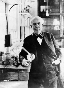 Thomas Edison in His Lab