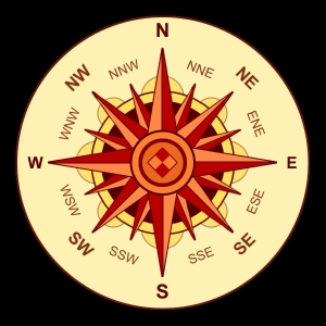 Decorative Compass Rose