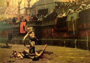 Jean-Leon Gerome's Famous Gladiator Painting (Pollice Verso) of 1872
