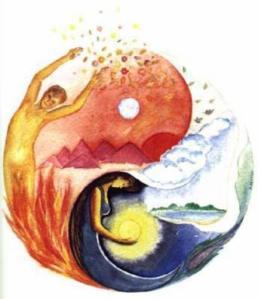 Man Woman Yin Yang Symbol