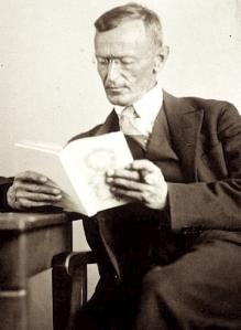 Hermann Hesse reading a book