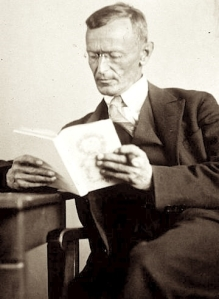 Hermann Hesse reading a book