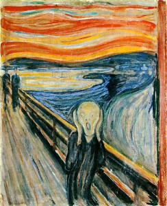The Scream. Edvard Munch's most famous painting.