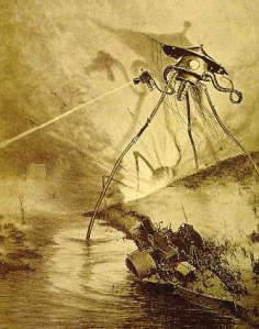 Illustration from War of the Worlds - French Edition (1906)