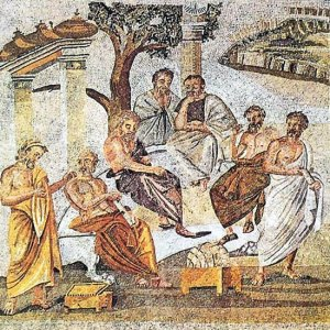 A Mosaic Depicting Plato' and His Academy