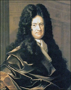 Portrait of German philosopher Gottfried Wilhelm von Leibniz