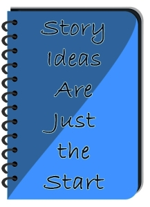 Small Spiral Notebook ith words: Story Ideas Are Just the Start