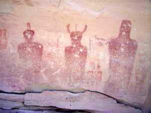 Fremont Rock Art in Thompson Canyon, Utah