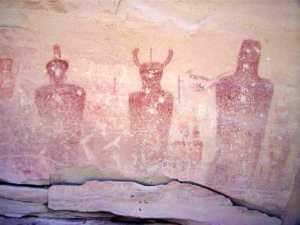 Fremont Rock Art in Thompson Canyon, Utah