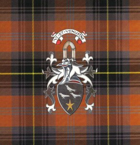 Dryburgh Coat of Arms on Tartan
