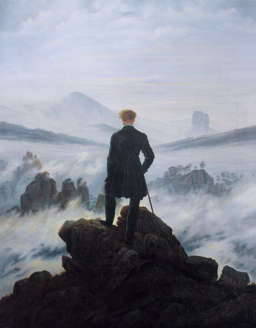 r ticism s claim on individuality thomas cotterill a man stands atop a mountain looking down at the clouds