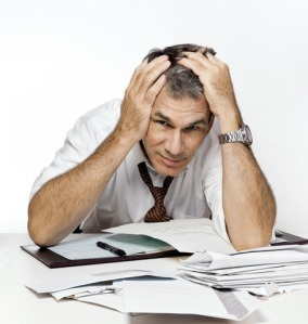 Man Getting Anxious over His Finances