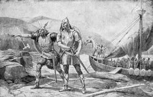 Viking Raiders Coming Ashore