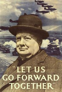 Winston Churchill War Poster