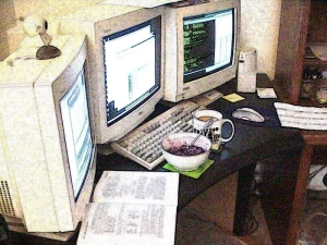 Old Computer Work Station