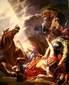 Painting depicting the conversion of St. Paul.