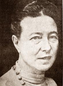 Simone de Beauvoir at 60